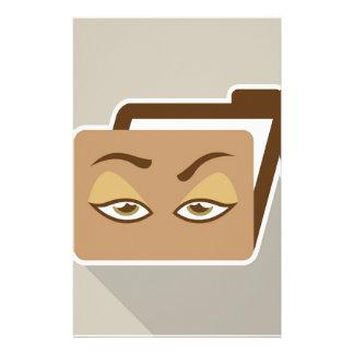 Icono de la carpeta con los ojos  papeleria