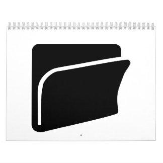 Icono de la carpeta de archivos calendarios de pared