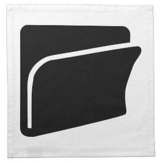Icono de la carpeta de archivos servilleta