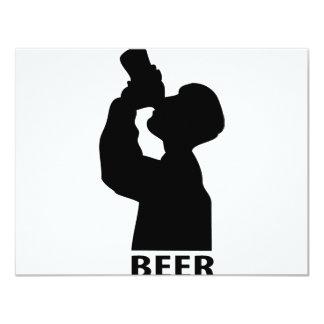 """icono de la cerveza invitación 4.25"""" x 5.5"""""""