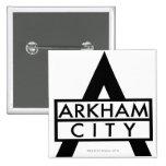 Icono de la ciudad de Arkham Pin Cuadrado