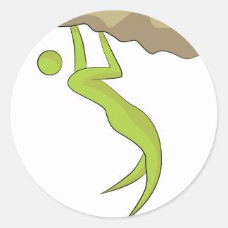 Icono de la escalada pegatina redonda
