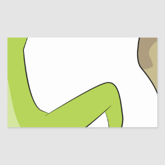 Icono de la escalada pegatina rectangular