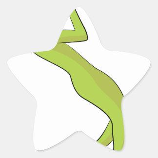 Icono de la escalada pegatina en forma de estrella