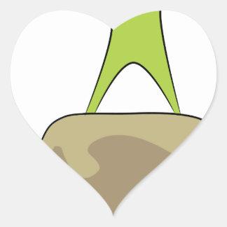 Icono de la escalada pegatina en forma de corazón