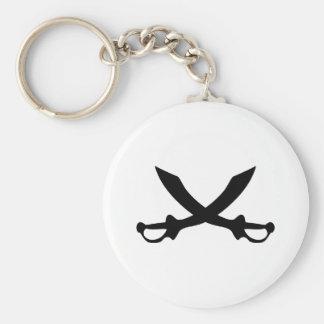 icono de la espada del sable del pirat llavero redondo tipo pin