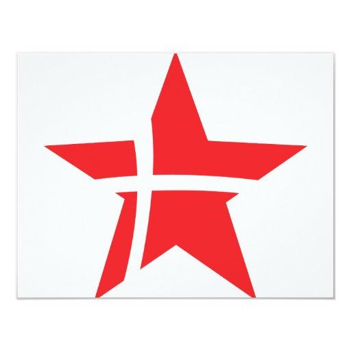 icono de la estrella de Dinamarca Invitación 10,8 X 13,9 Cm