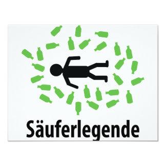 """Icono de la féretro de Säuferlegende Invitación 4.25"""" X 5.5"""""""