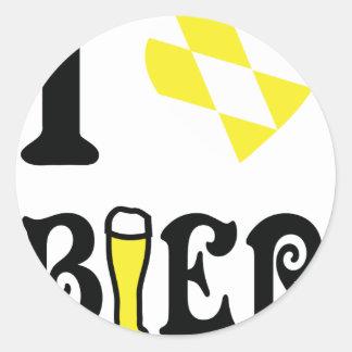icono de la féretro del amor del amarillo I Pegatina Redonda