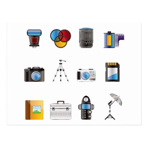 Icono de la fotografía tarjeta postal
