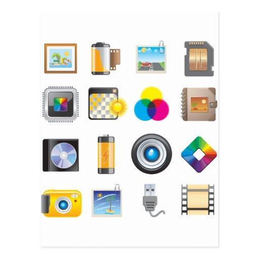 Icono de la fotografía tarjetas postales