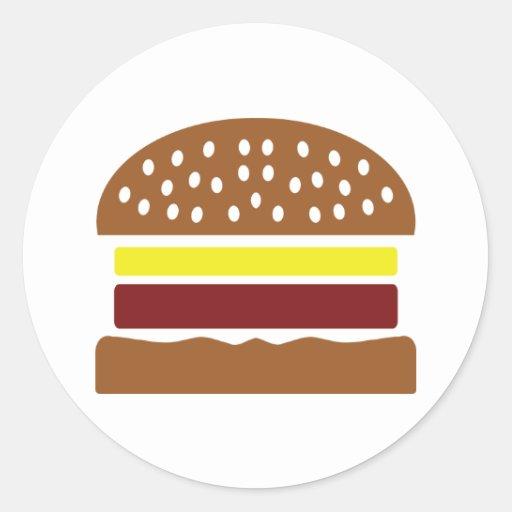 icono de la hamburguesa pegatina redonda