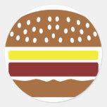 icono de la hamburguesa pegatinas redondas