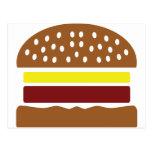 icono de la hamburguesa postal