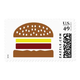 icono de la hamburguesa sellos