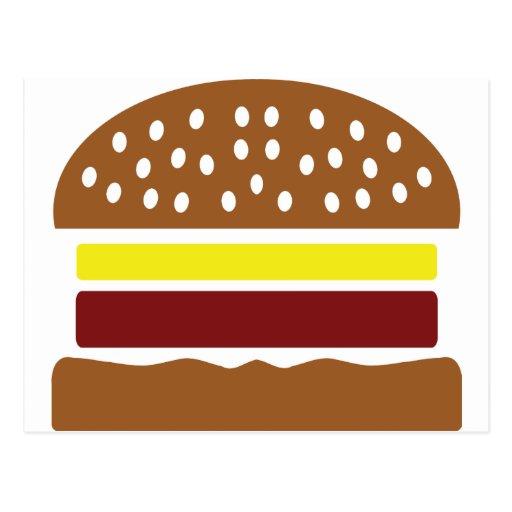 icono de la hamburguesa tarjetas postales