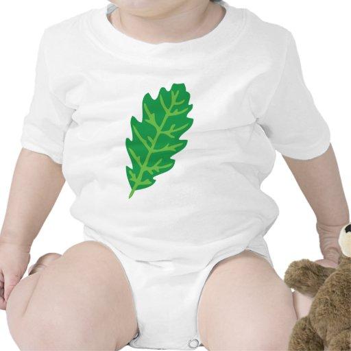 icono de la hoja del roble trajes de bebé