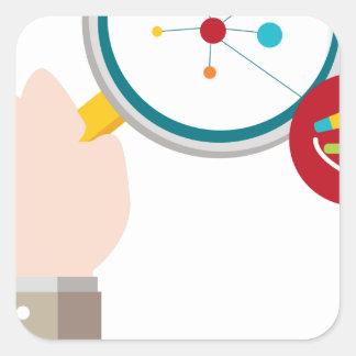 Icono de la investigación de la DNA del genoma Pegatina Cuadrada