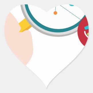 Icono de la investigación de la DNA del genoma Pegatina En Forma De Corazón