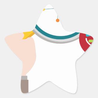 Icono de la investigación de la DNA del genoma Pegatina En Forma De Estrella