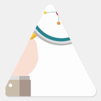 Icono de la investigación de la DNA del genoma Pegatina Triangular