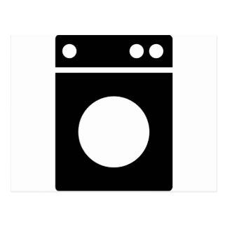 icono de la lavadora tarjeta postal