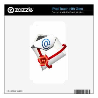 Icono de la letra de la tarjeta de regalo del iPod touch 4G calcomanía