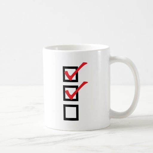 icono de la lista de control taza de café