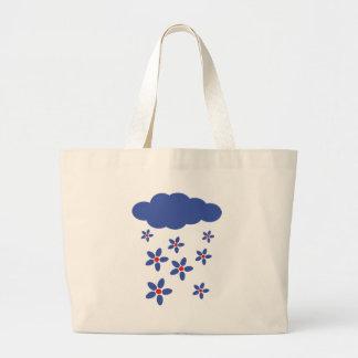 icono de la lluvia de la flor bolsas