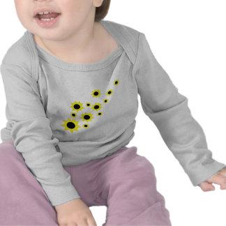 icono de la lluvia del girasol camiseta