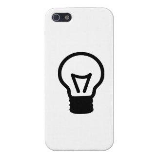 Icono de la luz de bulbo iPhone 5 funda