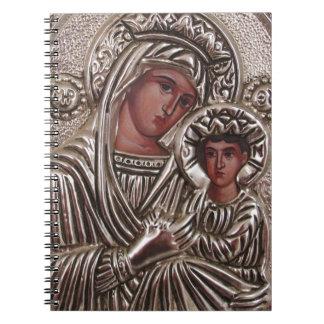 Icono de la madre y del niño, Madonna y Jesús en Libros De Apuntes