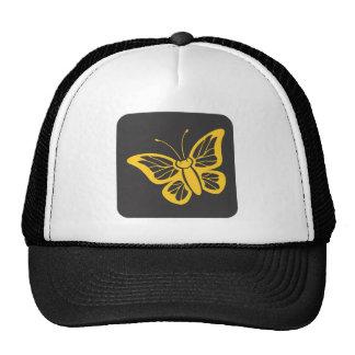 Icono de la mariposa de monarca gorros