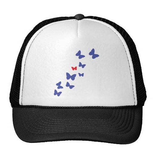 icono de la mariposa gorros