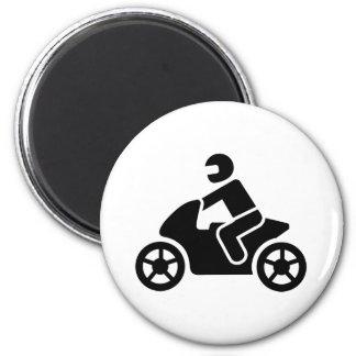 Icono de la motocicleta imán redondo 5 cm