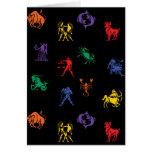 Icono de la muestra del zodiaco tarjeta de felicitación
