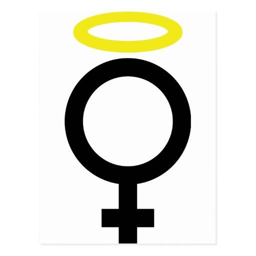 icono de la mujer del ángel tarjeta postal