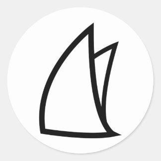 icono de la navegación etiqueta redonda