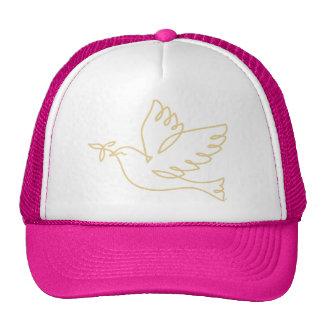 Icono de la paloma de la paz gorros bordados