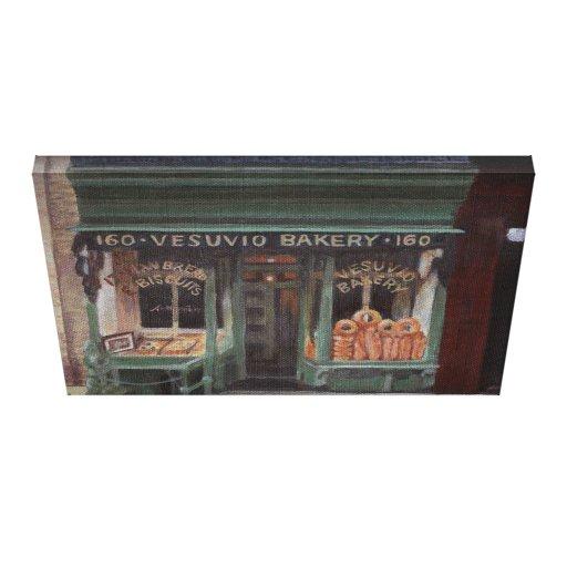 Icono de la panadería NYC de Vesuvio Impresiones De Lienzo