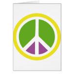icono de la paz tarjetas