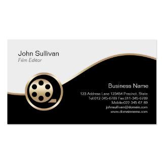 Icono de la película del oro de la tarjeta de tarjetas de negocios