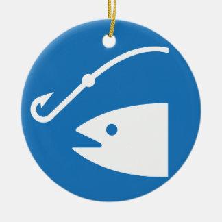Icono de la pesca de los pescados y de gancho ornamente de reyes