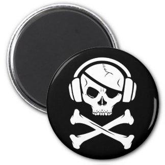 Icono de la piratería anti-RIAA del pirata de la m Iman De Frigorífico