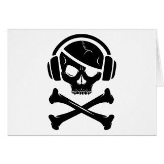 Icono de la piratería anti-RIAA del pirata de la m Felicitación