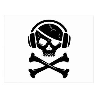 Icono de la piratería anti-RIAA del pirata de la m Postal