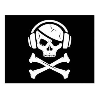 Icono de la piratería anti-RIAA del pirata de la m Postales
