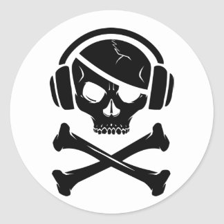 Icono de la piratería anti-RIAA del pirata de la Etiqueta Redonda