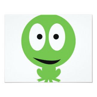 """icono de la rana verde invitación 4.25"""" x 5.5"""""""