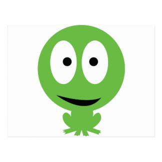 icono de la rana verde postales